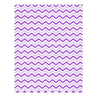 Violet Chevron Zigzag Unique 21.5 Cm X 28 Cm Flyer