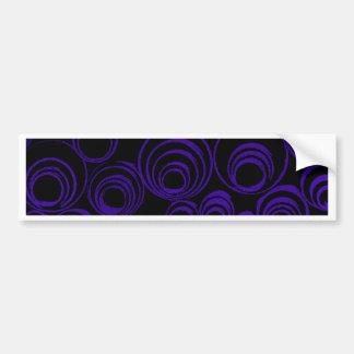Violet circles rolls, ovals abstraction pattern UV Bumper Sticker