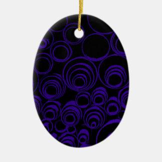 Violet circles rolls, ovals abstraction pattern UV Ceramic Oval Decoration