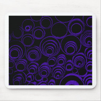 Violet circles rolls, ovals abstraction pattern UV Mouse Pad