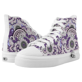 violet colorful pattern in boho style high tops