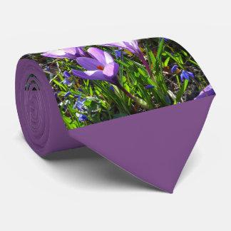Violet crocuses 02.2, spring greetings tie