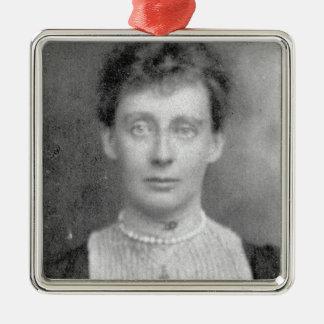 Violet Dickinson Silver-Colored Square Decoration