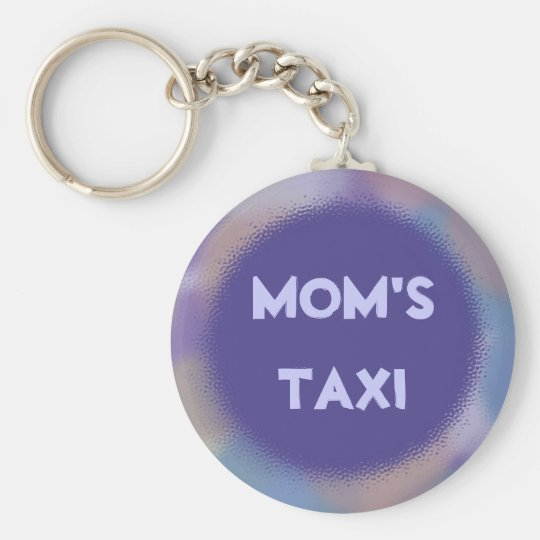 Violet Dots with Personalised Nameplate Key Ring