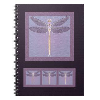 Violet Dragonfly Notebook