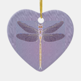 Violet Dragonfly Ornament
