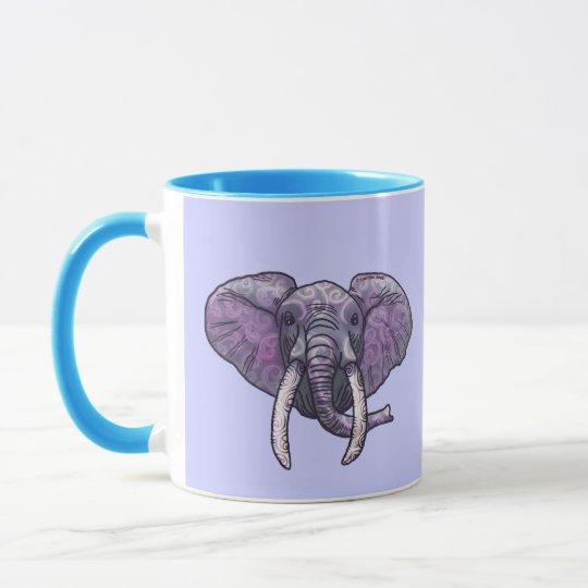 Violet Elephant Face Mug