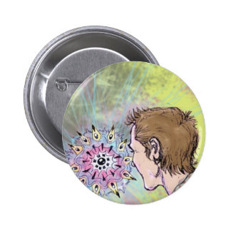 Violet Epiphany Psychedelic Art Button!
