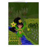 Violet Faery in Field of Flowers Card