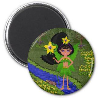 Violet Faery in Field of Flowers Magnet Magnet