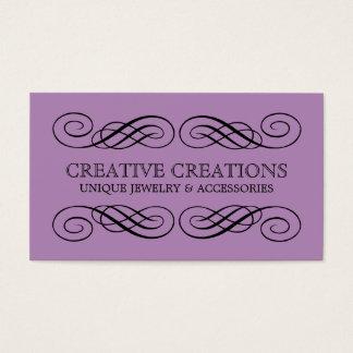 Violet Fancy Flourish Business Card