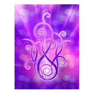 Violet Flame / Violet Fire Postcard