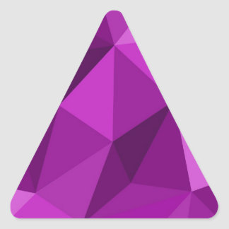 Violet flat wrapping surface pattern triangle sticker