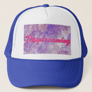Violet Floral Daydreaming Trucker Hat