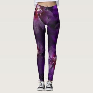 Violet Floral Leggings