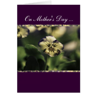 Violet floral, Mother's Day w/Verse Card Cards