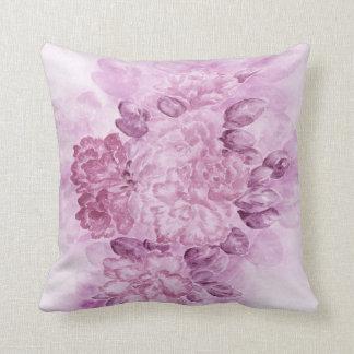 Violet floral pillow