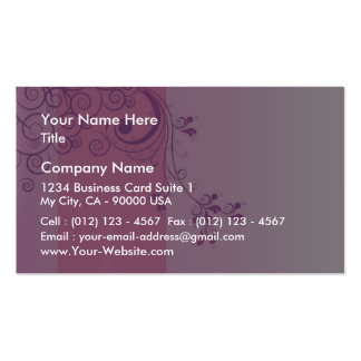 Violet floral wedding gift pack of standard business cards