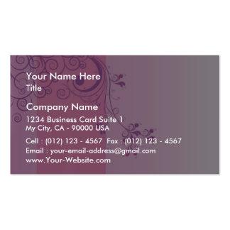 Violet floral wedding gift pack of standard business cards