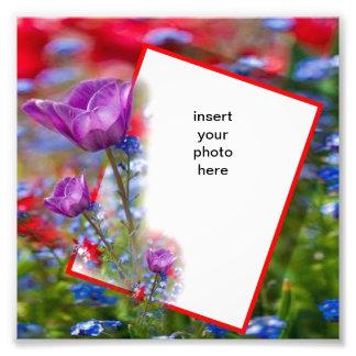 violet flower frame art photo