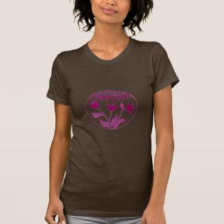 violet flower globe t shirt