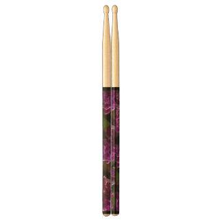 Violet Flower Pattern Drum Sticks