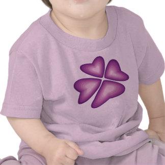 violet flower shirt