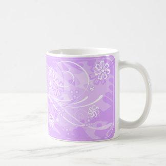 violet flowers coffee mug