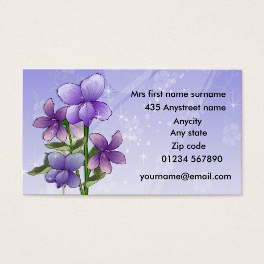 Violet Flowers floral Business Card