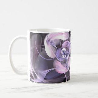 Violet Fractal Flower Coffee Mug