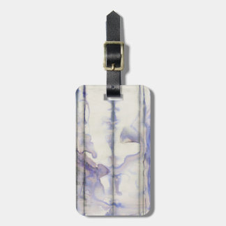 Violet Free Expression Watercolor Luggage Tag