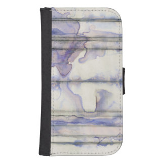 Violet Free Expression Watercolor Samsung S4 Wallet Case