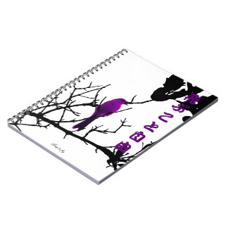 Violet free to fly spiral notebooks