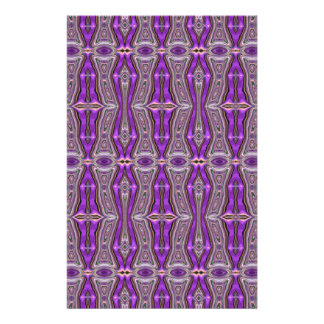 Violet Geometric Abstract Pattern Custom Flyer