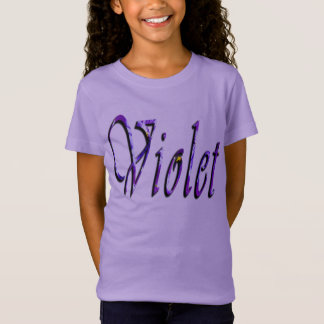 Violet, Girls Name, Logo, Girls Lavender T-shirt