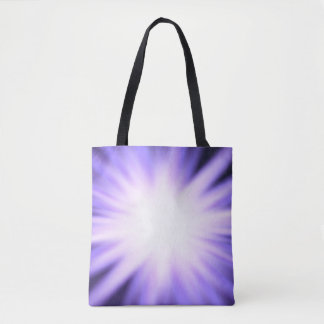 Violet glow light effect tote bag