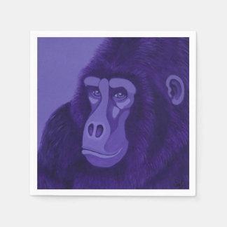 Violet Gorilla Napkins Disposable Serviettes