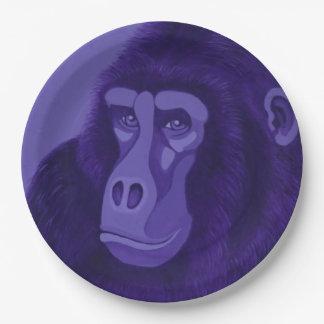 Violet Gorilla Paper Plates