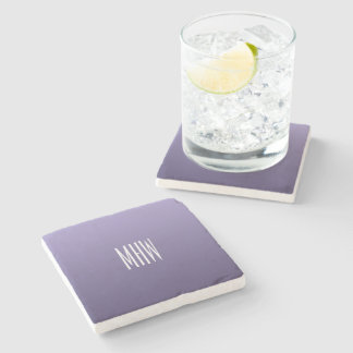 Violet Gradient custom monogram stone coasters