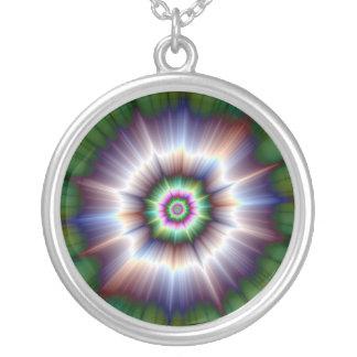 Violet Green and Blue Super Nova Necklace