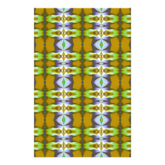 Violet Green Mustard Chains Pattern Personalized Flyer