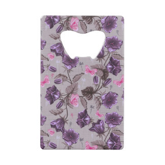 violet hand bells and pink butterflies pattern