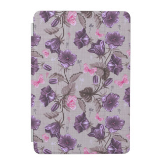 violet hand bells and pink butterflies pattern iPad mini cover