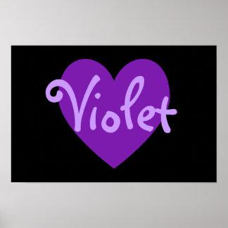 Violet Heart Poster