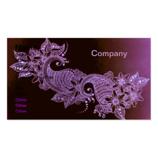 violet henna mehndi floral Business Card