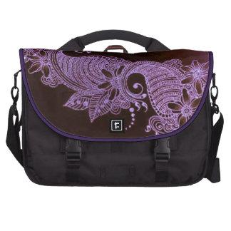 violet henna mehndi floral c bag commuter bag