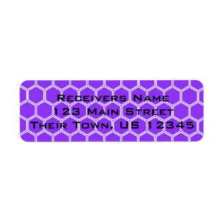 Violet Hexagon 1 Return Address Label