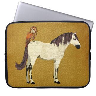 Violet Horse & Owl Computer Sleeve
