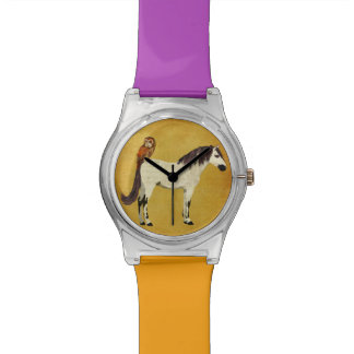 Violet Horse & Owl Watch