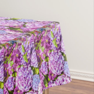 Violet hortensia pretty table cloth